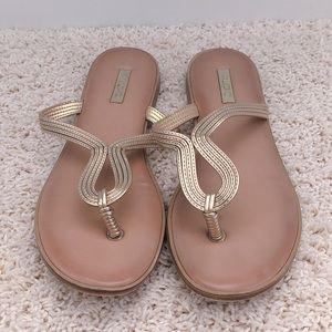 Gold Aldo Sandals - Size 8